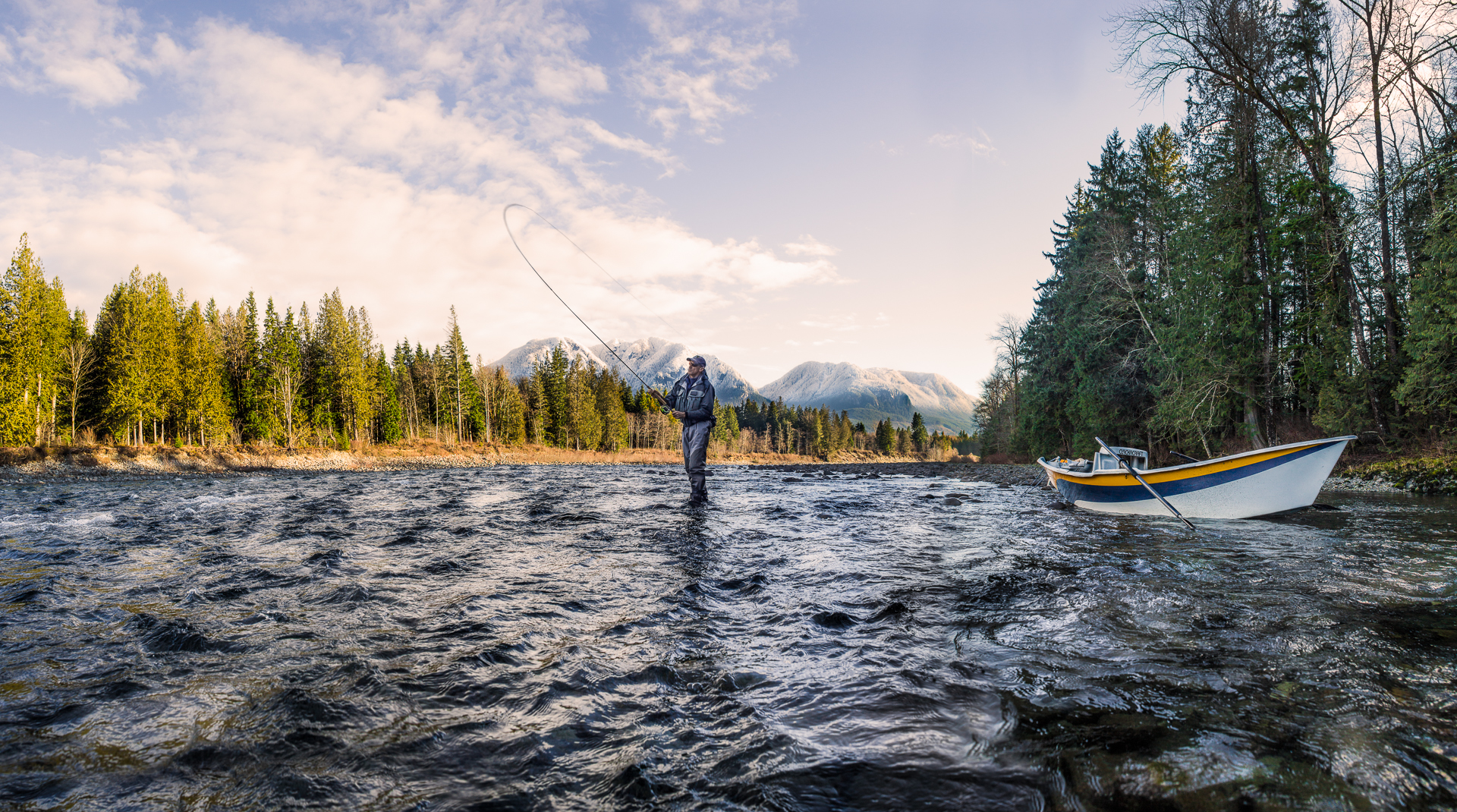 Skykomish River Fly Fishing Drift Boat excursion/ Adventure