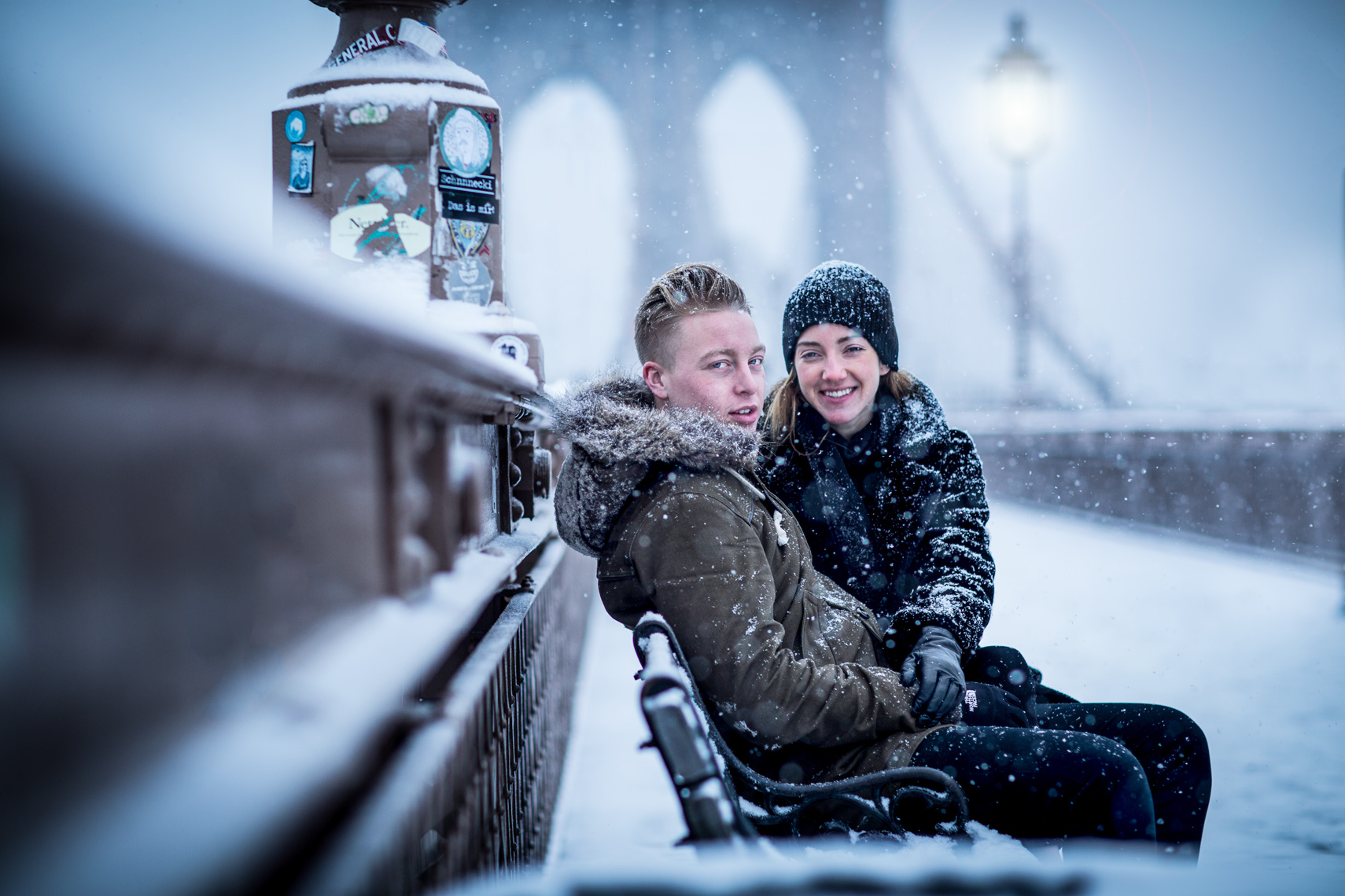 Brooklyn Bridge Snow Date